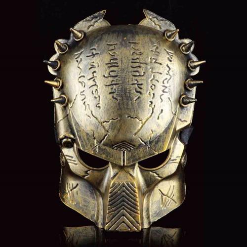 mascara filme predador cosplayer festas fantasia dourada