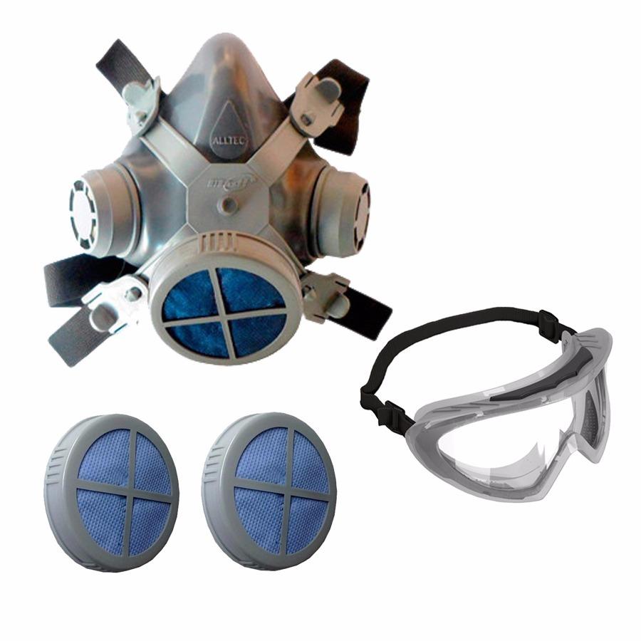 0ea7b4e48e9f9 Máscara Filtro Pó   Poeira   Nev. Mastt + 2 Filtros + Óculos - R ...