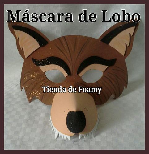 máscara flor antifaz de animales de foami actos escolares