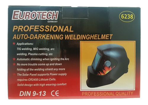 mascara fotocromatica soldar careta fotosensible - eurotech