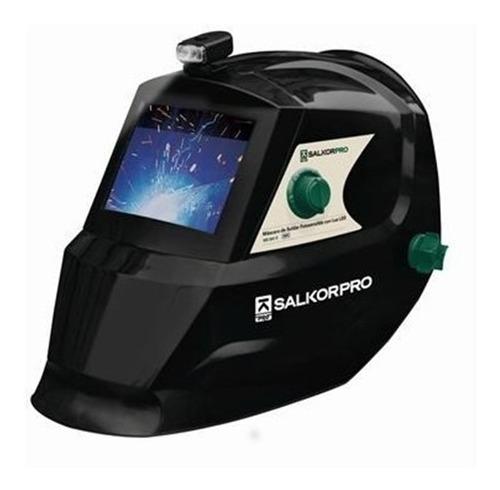 mascara fotosensible soldar careta salkor ms801 con luz led