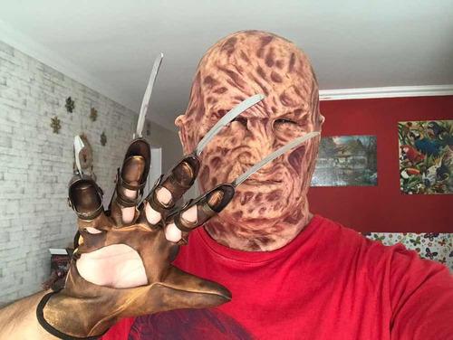 máscara freddy krueger realista silicone - dark ride