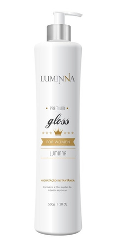 mascara gloss luminna tipo teia instantanea 1 minuto 500g
