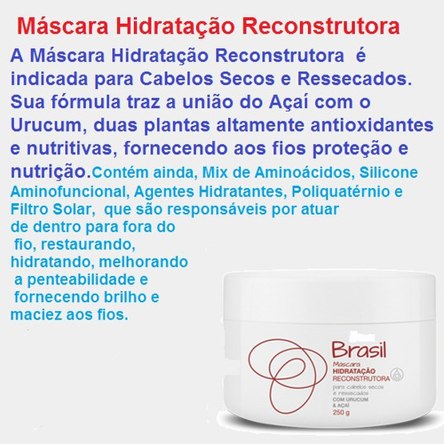mascara hidrataçao reconstrutora   250gr