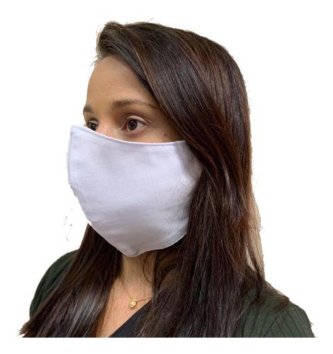 mascara hospitalar lavável tecido brim reutilizável - 20 un