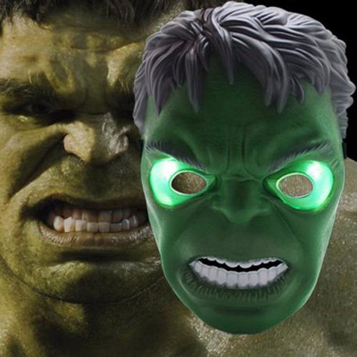 mascara hulk luz led vengadores avengers disfraz halloween