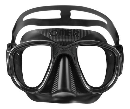 máscara importada omer alien preta mergulho pesca sub