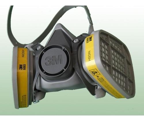 mascara industrial de doble filtro fumigar pintar soldadura