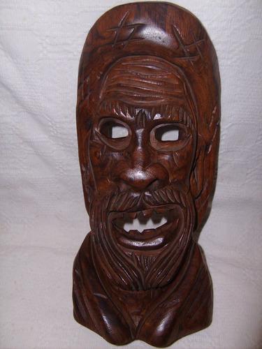 mascara -jacarandá maciço - chapeu - 30 cm