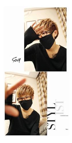 mascara k-pop tapabocas negro protector anti-polución bts
