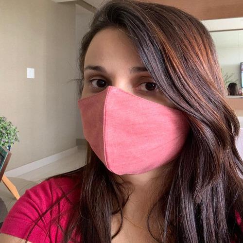 máscara kit 50 unidades individual tecido duplo lavável