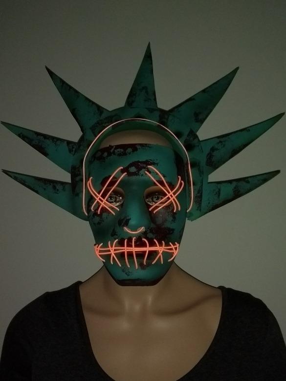 Que limpian la máscara para la persona de las anguillas y