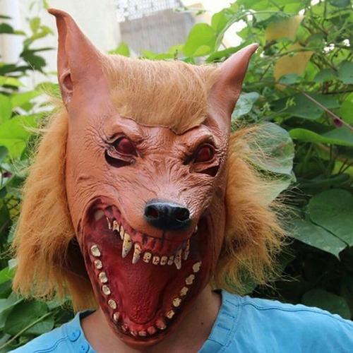 máscara látex assustadora halloween lobisomem