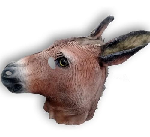 mascara latex burro mula caballo animales disfraz halloween