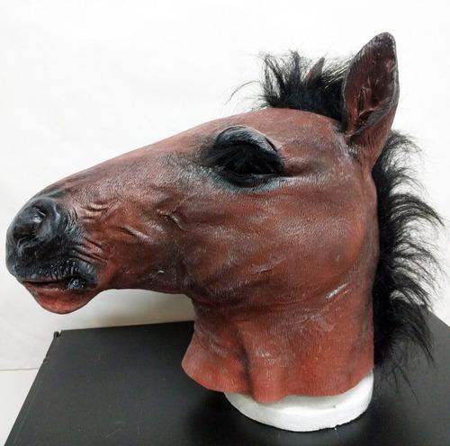 mascara latex caballo real horse disfraz loco crazy adulto