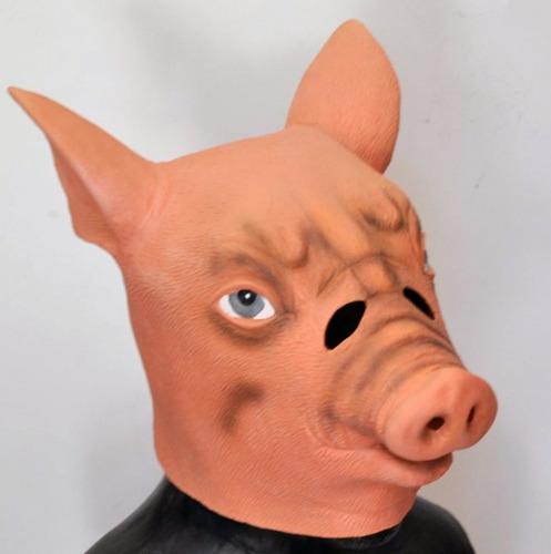 mascara latex chancho cerdo porcino puerco disfraz halloween