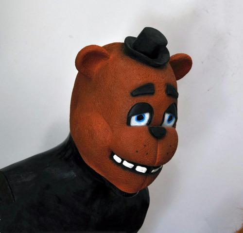 mascara latex freddy bear oso terror halloween disfraz miedo