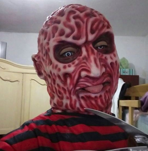 mascara latex freddy krueger - terror - cosplay