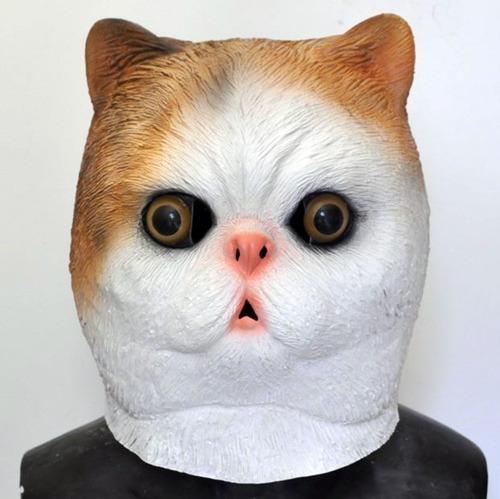 mascara latex gato adulto gatito animal halloween disfraz