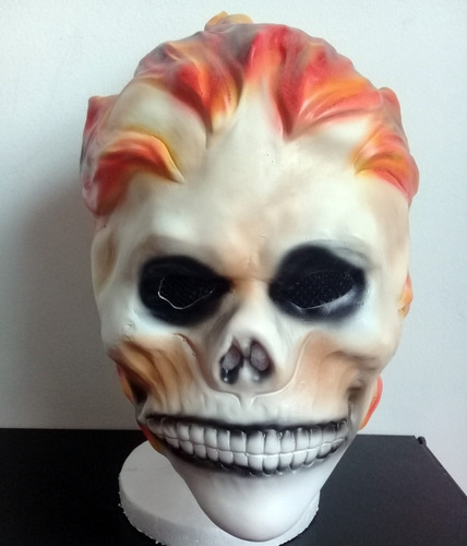 mascara latex ghost rider vengador fantasma antihéroe marvel