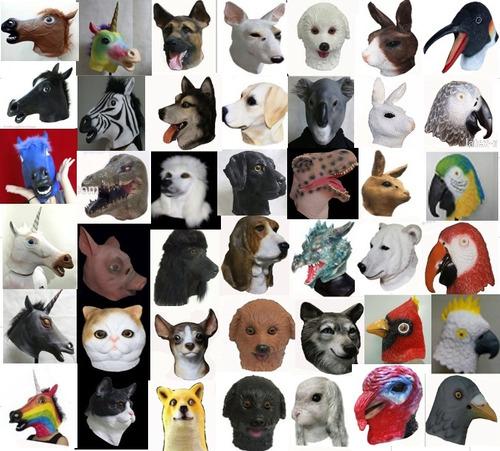 mascara latex guacamayo loro aves animales disfraz adulto