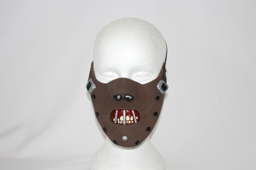 máscara látex hannibal borracha halloween filme terror