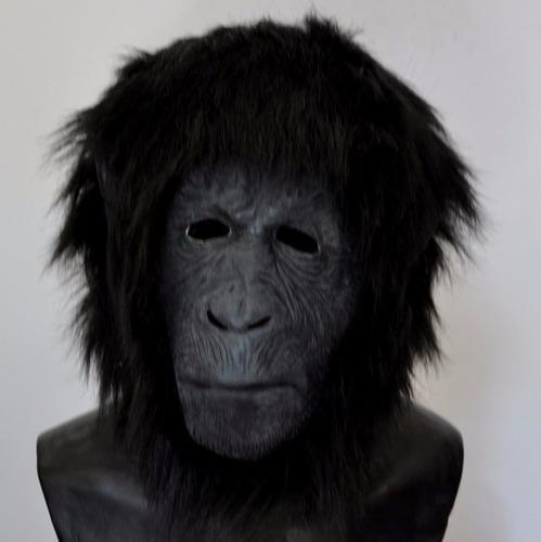 mascara latex mono chimpance gorila macaco disfraz halloween
