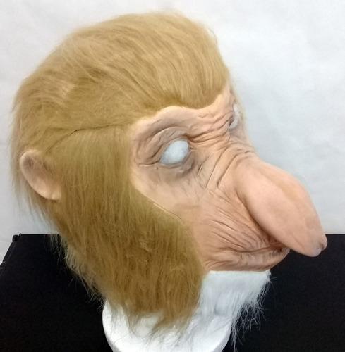 mascara latex mono simio narigudo nasico primate narigon