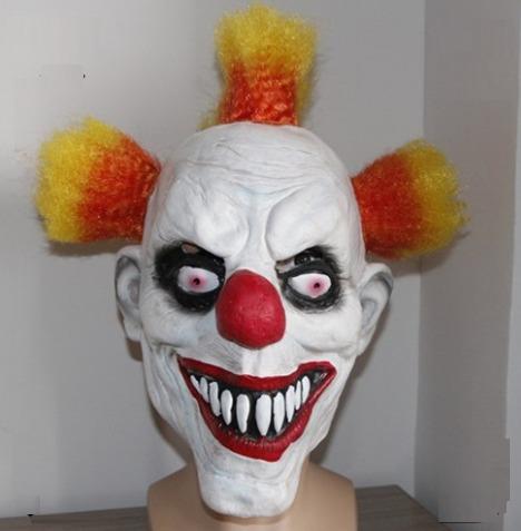 mascara látex palhaço assassino pegadinha assustador halowee