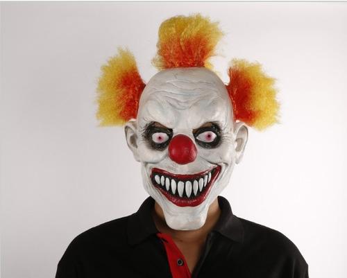 máscara latéx palhaço assassino, pegadinha, terror, carnaval