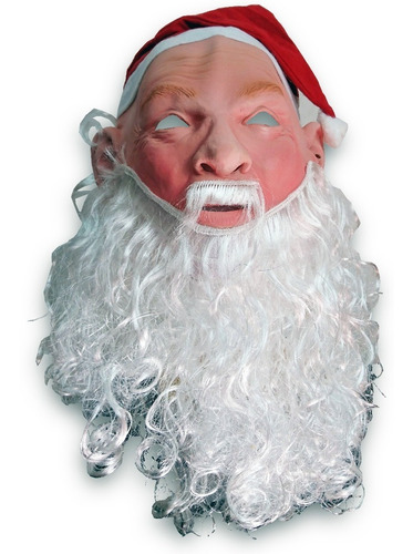 mascara latex papa noel fiestas santa claus disfraz