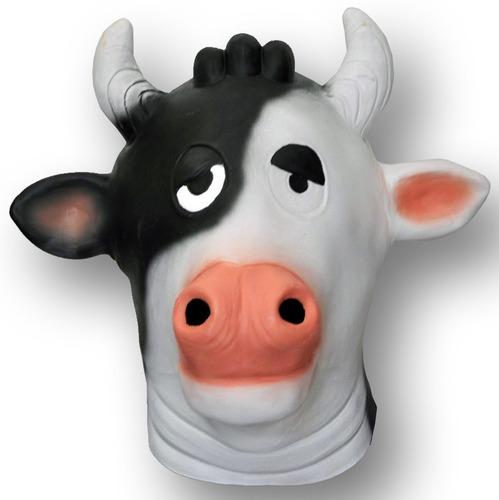 mascara latex vaca loca vaquita animada animales disfraces