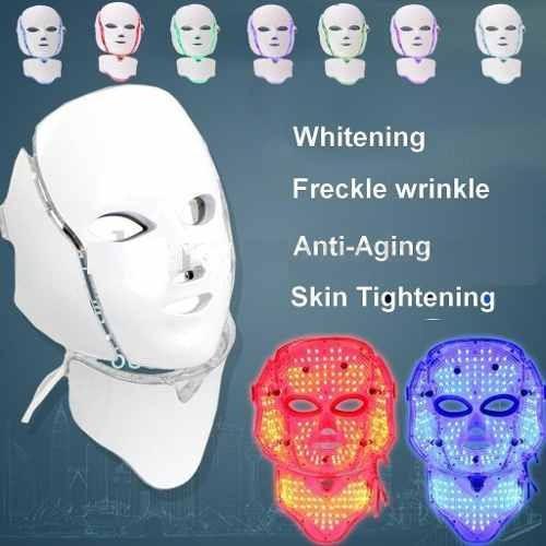 mascara led rostro y cuello arrugas manchas y mas