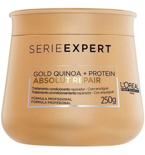 máscara loreal absolut repair gold quinoa + protein 250g +nf