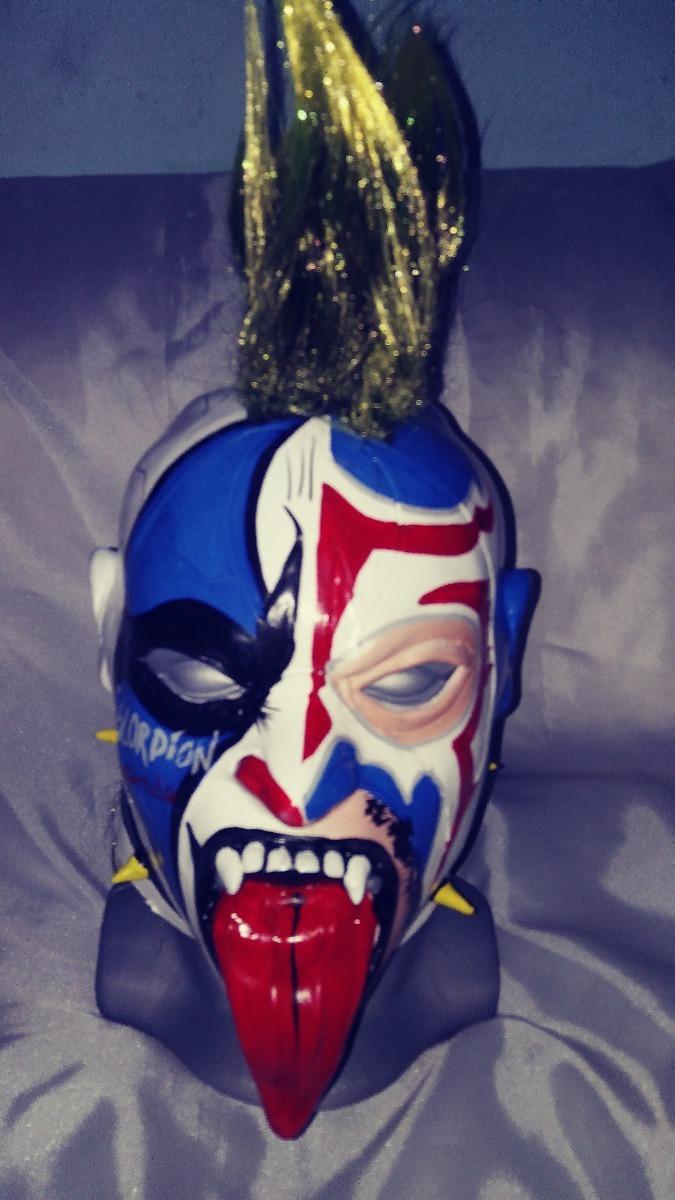 Mascara Luchador Latex Psycho Clown Escorpion Dorado ...