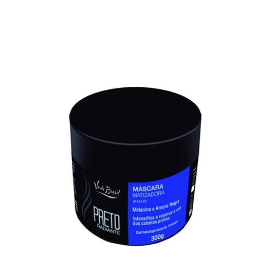 máscara matizador preto radiante 300 gr brilho e vida
