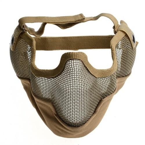 máscara meia face com tela de aço - de