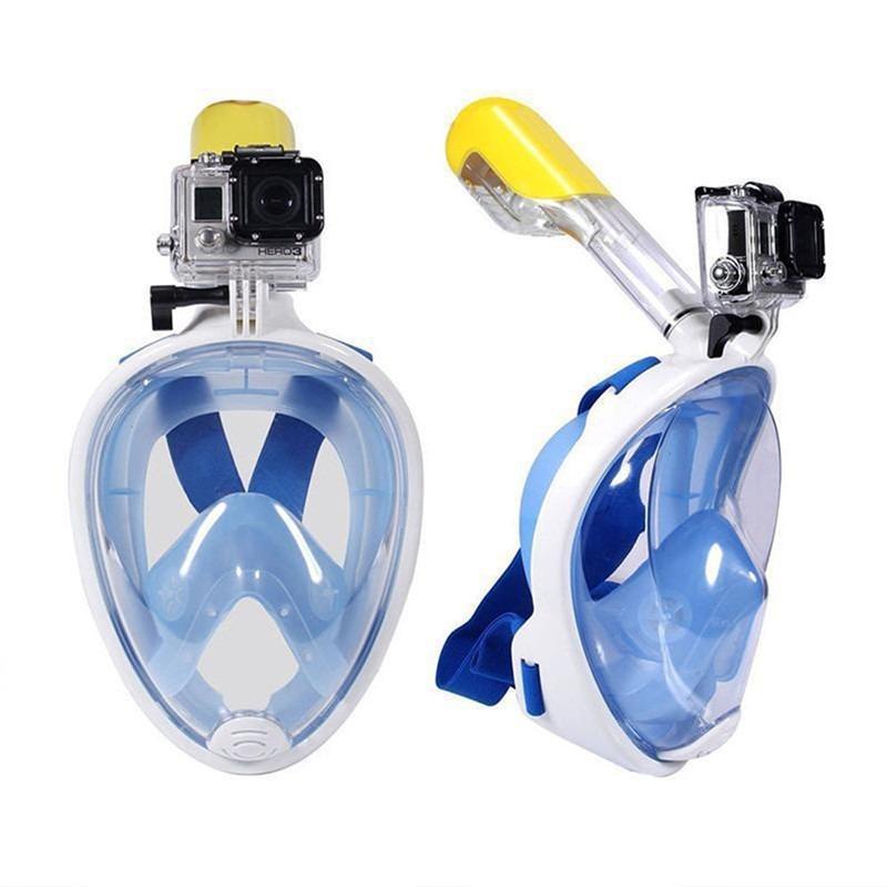 1dbe33cb0 máscara mergulho easybreathe fullface tipo tribord azul p m. Carregando  zoom.