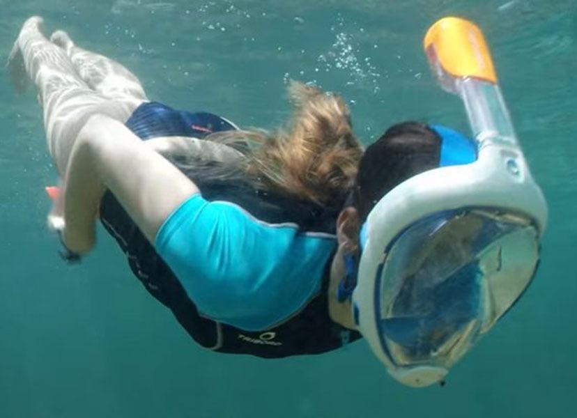 fdbc541da máscara mergulho snorkel full face semelhante easybreath. Carregando zoom.