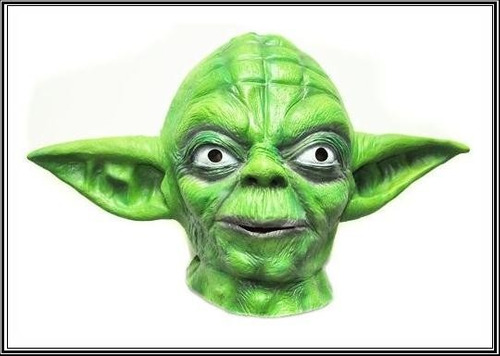 máscara mestre yoda adulto - star wars pronta entrega
