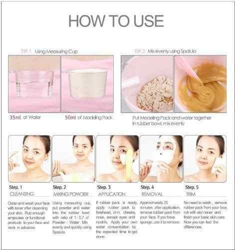 máscara modeladora en polvo 2500ml vitamina c para iluminar