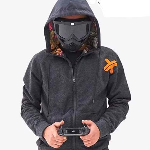máscara modular con gafas desmontables para motociclista