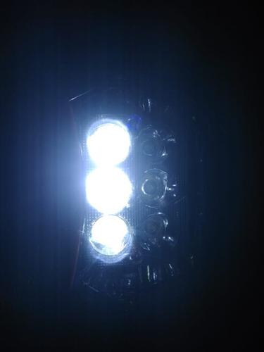 mascara motocross con faro led alta y baja