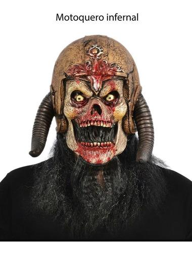 máscara motoquero infernal 100% látex