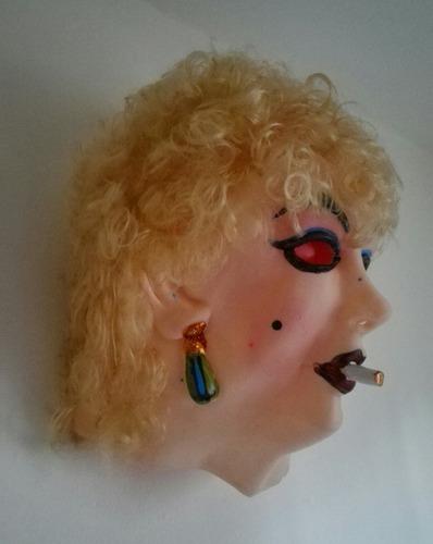 mascara mujer latex caucho señora vieja borracha loca