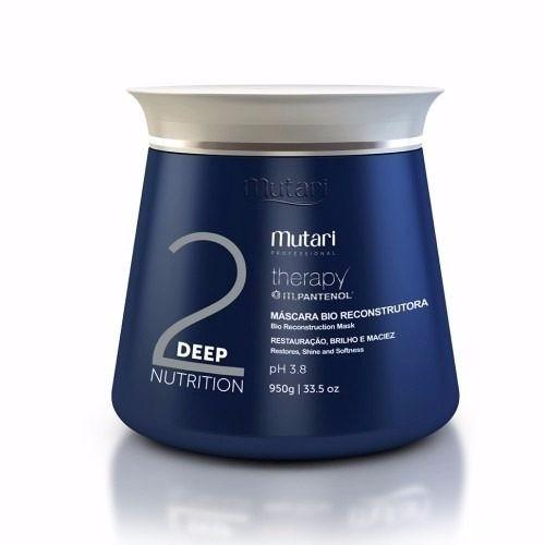 máscara mutari therapy deep nutrition bio reconstrutora 950g