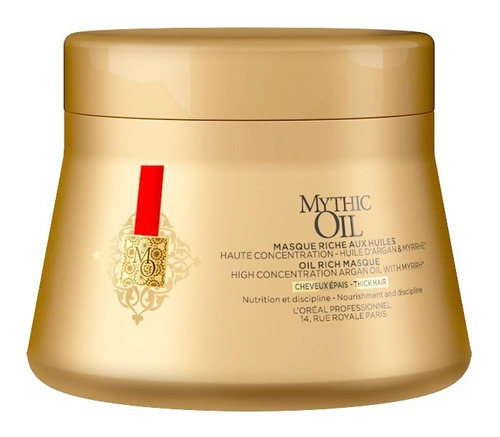 máscara mythic oil cabello normal 200 ml loreal pro