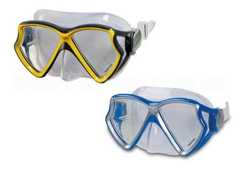 mascara natacion modelo aviador buceo intex 55981 + estuche