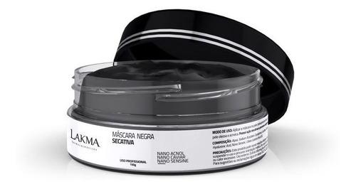 máscara negra secativa 150g lakma