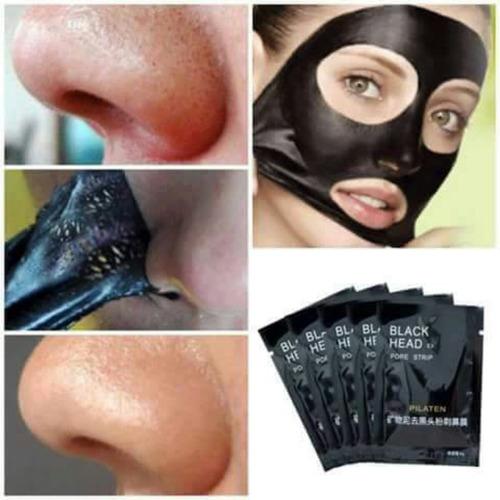 máscara negra tira cravos